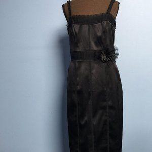 WHBM Ruffle Flower-Detail Sheath Dress